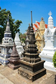 Free Many Styles Of Stupa Group Stock Images - 14427344