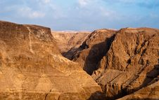 Wadi Darga - Dead Sea Hills Stock Images