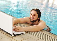 On Beautiful Pool, Summer Stock Photography