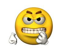 Free Angry Emoticon With Baring Teeth Stock Image - 14427811