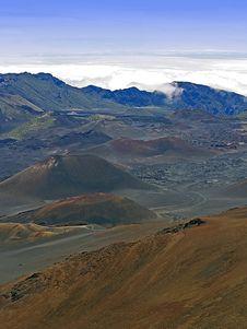 Haleakala Volcano Summit Stock Image