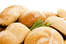 Wheat And Various Types Of Bread Royalty Free Stock Photos