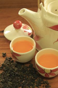Free Chinese Tea In Ceramic Pot Royalty Free Stock Image - 14428056