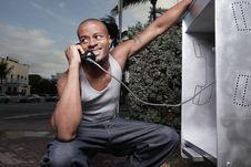 Free Man On The Phone Stock Photo - 14428130