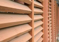 Wood Slate Fence Royalty Free Stock Image