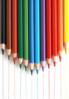 Free Colored Pencils Royalty Free Stock Photography - 14429287