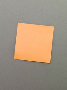 Free Orange Adhesive Notes Stock Photos - 14429693