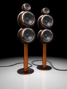 Audio Speakers Stock Photo