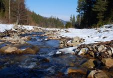 Free Winter Small River Royalty Free Stock Image - 14429816
