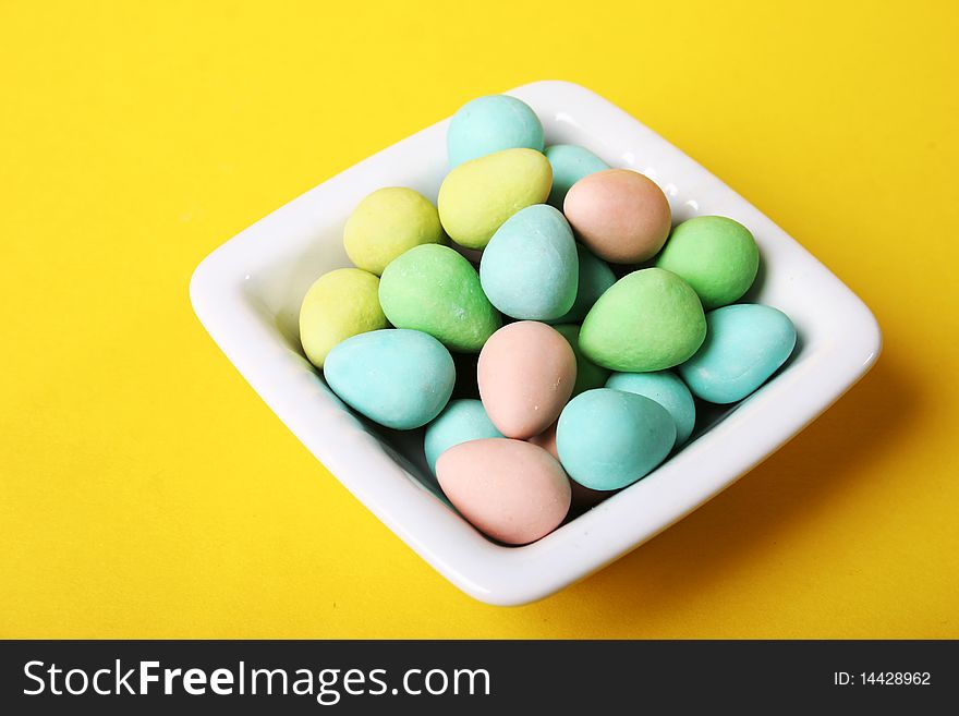 Coated chocolate candies