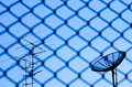 Free Wire Fence With Satellite Royalty Free Stock Image - 14430106