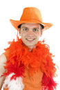 Free Dutch Soccer Supporter Royalty Free Stock Photography - 14434037