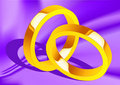 Free Wedding Rings On Silk Stock Images - 14439624