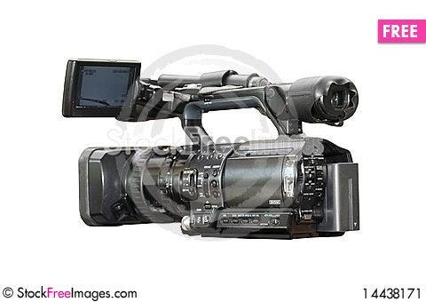Free Professional Digital Video Camera Stock Image - 14438171