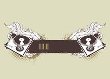Free Grunge Musical Banner Royalty Free Stock Photography - 14430377