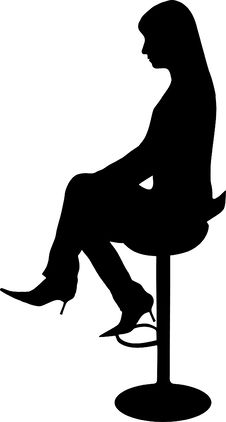 Free Women Sit On The Chair Stock Photos - 14431263