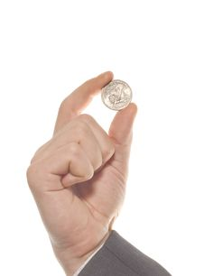 Free Businessman S Hand With One Dollar Royalty Free Stock Photos - 14431288