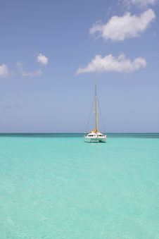 Catamaran In Saona Beach Royalty Free Stock Photo