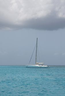 Catamaran In Saona Beach Stock Photo
