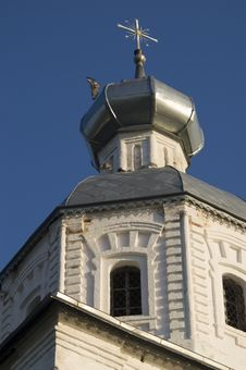 Cupola With Cross On Russian Church Stock Photos