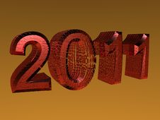 Free 3D Rendered 2011 New Year Logo Stock Photo - 14431570