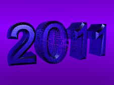 Free 3D Rendered 2011 New Year Logo Royalty Free Stock Photography - 14431577