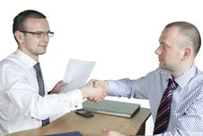 Free Businessmen Shaking Hands Stock Photography - 14431602