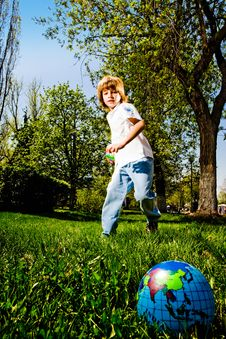 Free Boy In Park Stock Images - 14432224