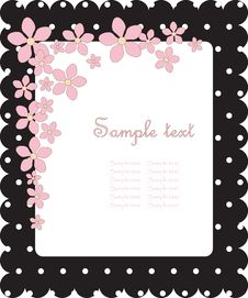 Free Floral Cute Card Royalty Free Stock Photography - 14432257
