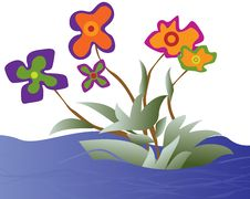 Free Flowers On The River Royalty Free Stock Photos - 14432318