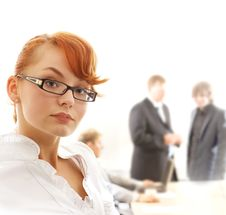 Free A Redhead Business Woman In Front Of A Meeting Stock Photos - 14432323