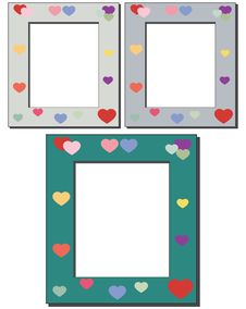 Free Hearts Frames Royalty Free Stock Photography - 14432327