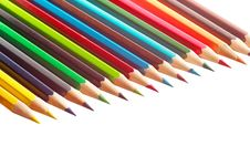 Free Pencils Isolated On The White Stock Images - 14432364