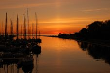 Free Sunset In Pirita Harbour Stock Photo - 14432430