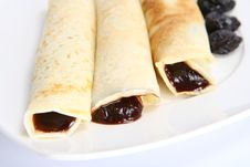 Free Pancakes Stuffed With Prune Jam Royalty Free Stock Photos - 14433238