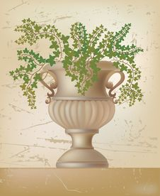Vector Illustration Of Antique Amphora Stock Photos