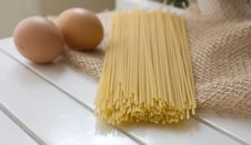 Egg Pasta. Stock Images