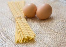 Egg Pasta. Royalty Free Stock Photo