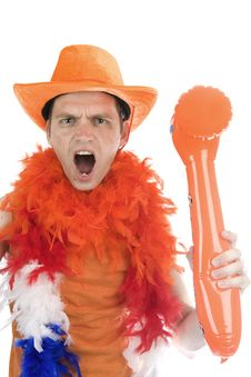 Free Soccor Fan Yelling Stock Images - 14434044