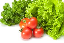 Free Tomatoes With Salad Royalty Free Stock Photo - 14434915