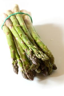 Free A Bunch Of Fresh ,green Asparagus ,close Up Royalty Free Stock Photo - 14435085