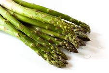 Free A Bunch Of Fresh ,green Asparagus ,close Up Royalty Free Stock Images - 14435219