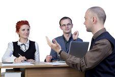 Free Businessman Explaining Royalty Free Stock Images - 14435729