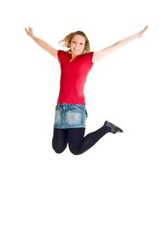 Free Girl Jumping Royalty Free Stock Images - 14435839