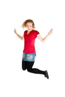 Free Girl Jumping Stock Photo - 14435840