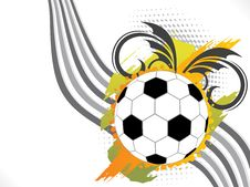 Free Abstract Football Background With Floral & Grunge Stock Photos - 14436023