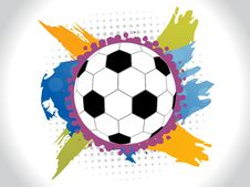 Abstract Colorfull Football Background Royalty Free Stock Photo
