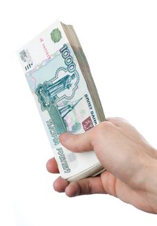 Free Hand With Money Stock Image - 14437091