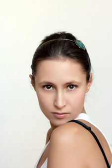 Free Portrait Of A Young Female With Headband Royalty Free Stock Images - 14437149