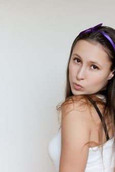 Free Pretty Girl Blows A Kiss Royalty Free Stock Photos - 14437178